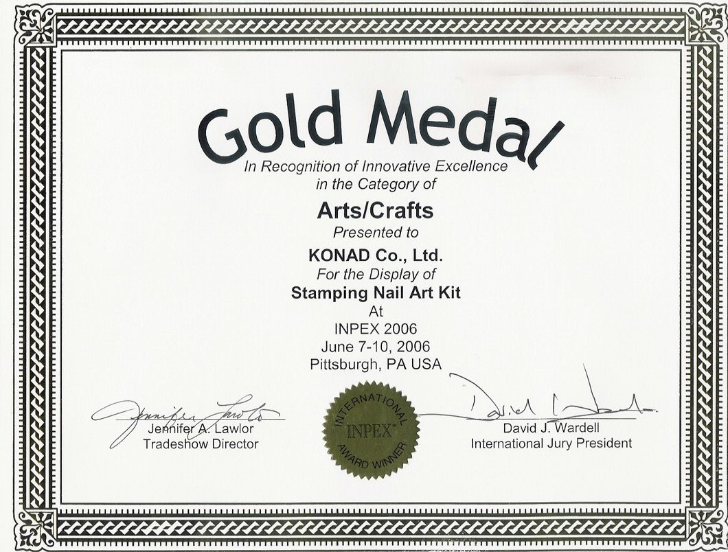 Gold Medal for Arts/Crafts - USA